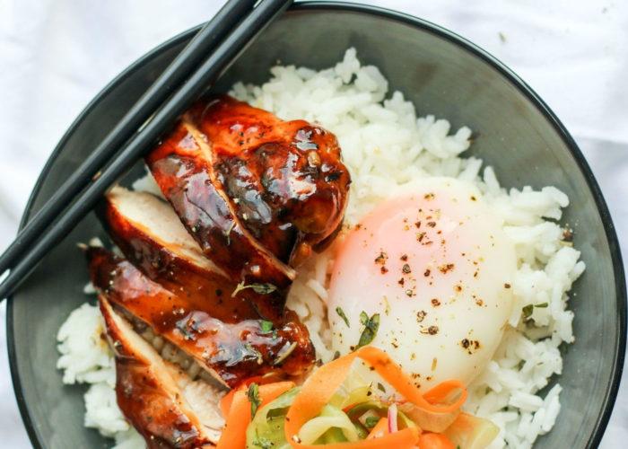 Сувид курица в соусе «Терияки»