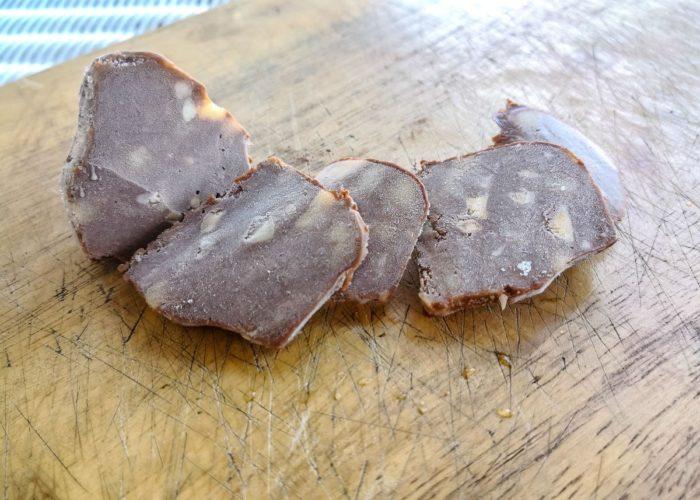 Cy вид закуска из шоколада, банана и арахисовой пасты