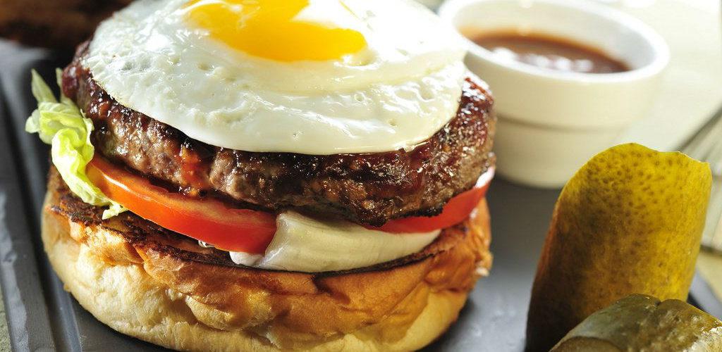 Су-вид гамбургер с творожным сыром