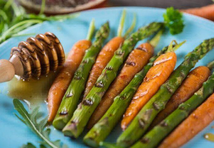 Спаржа и морковь сувид